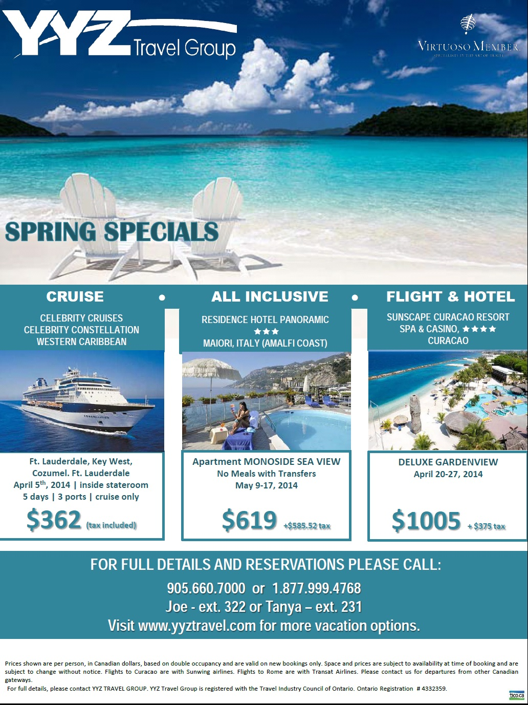 corporate Spring Specials travel deals