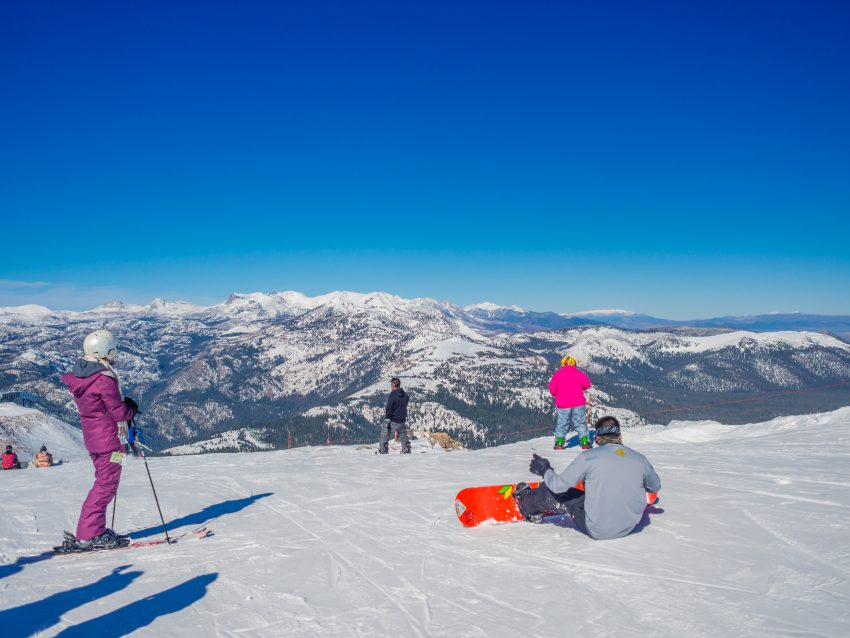 Best Destinations to Ski and Snowboard. MAMMOTH LAKES, CA - November 8 2015, Beautiful day at Mammoth M