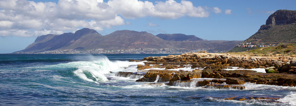 False Bay, near Cape Town in South Africa, with Simonstown in the background.