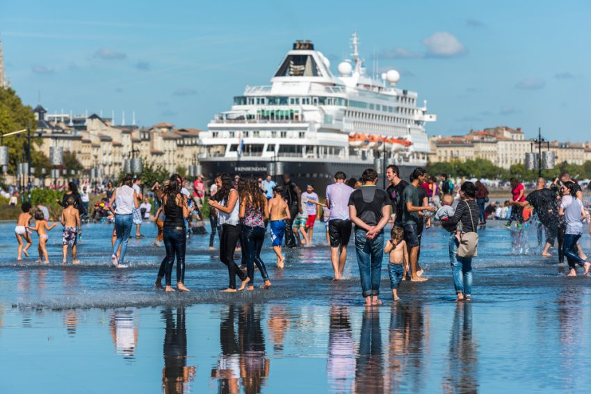 Cruise Passenger Trends in 2017. Famous dutch cruise ship Prinsendam in Bordeaux, France