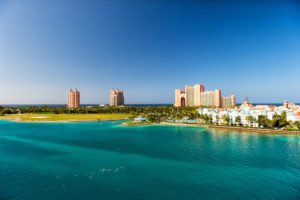 Top-Rated Tourist Attractions in Bahamas. NASSAU, BAHAMAS - March 9. 2016: The Atlantis Paradise Island resort, located in the Bahamas . The resort cost $800 million to bring to life the myth and legend of the lost city of Atlantis.