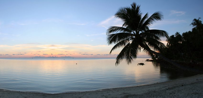 The islands of the Caribbean Sea. Beach Sunset - Purity