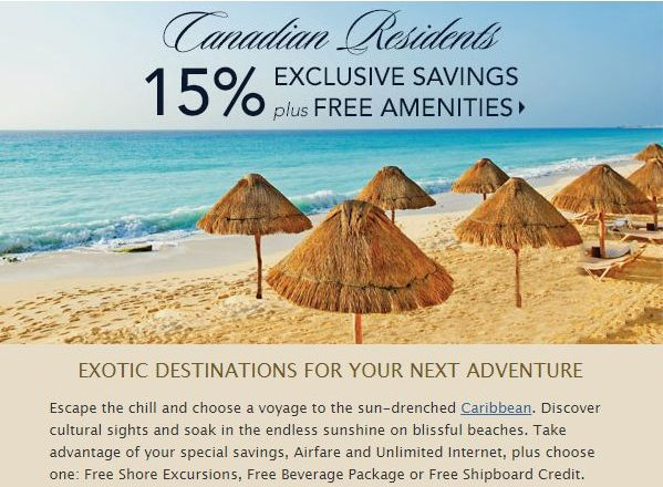Special Offer! 15% Exclusive Savings for Canadian Residents