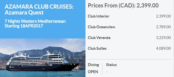 7 Night Western Mediterranean starting from $1,599* per person