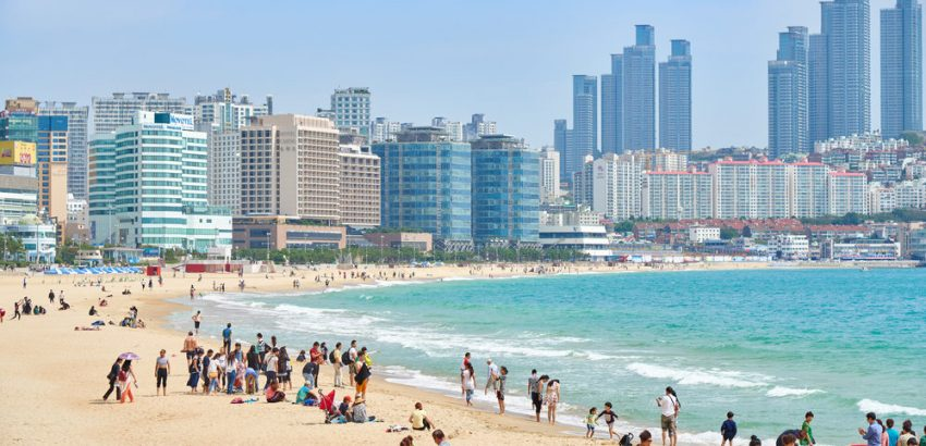 Top Sights in Busan. Busan, Korea - Haeundae beach is Busan's most popular beach because of its easy access from downtown Busan