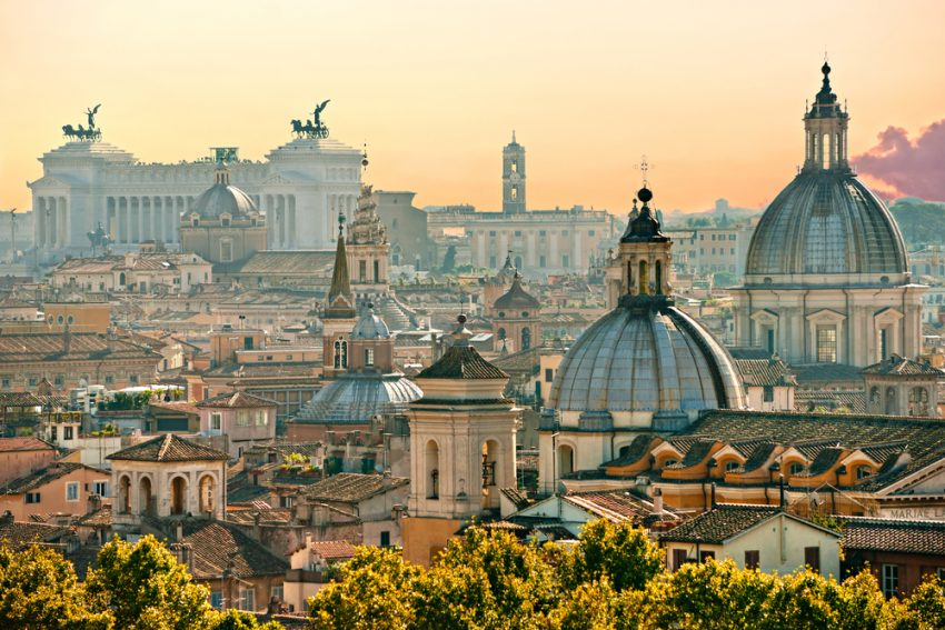 Cosmopolitan Cities. View of Rome from Castel Sant'Angelo, Italy