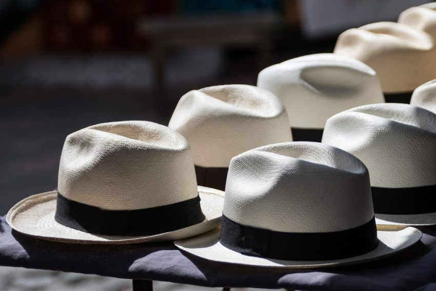 How to Be a Travel Fashionista. Panama hats in the sun in Otavalo Ecuador.