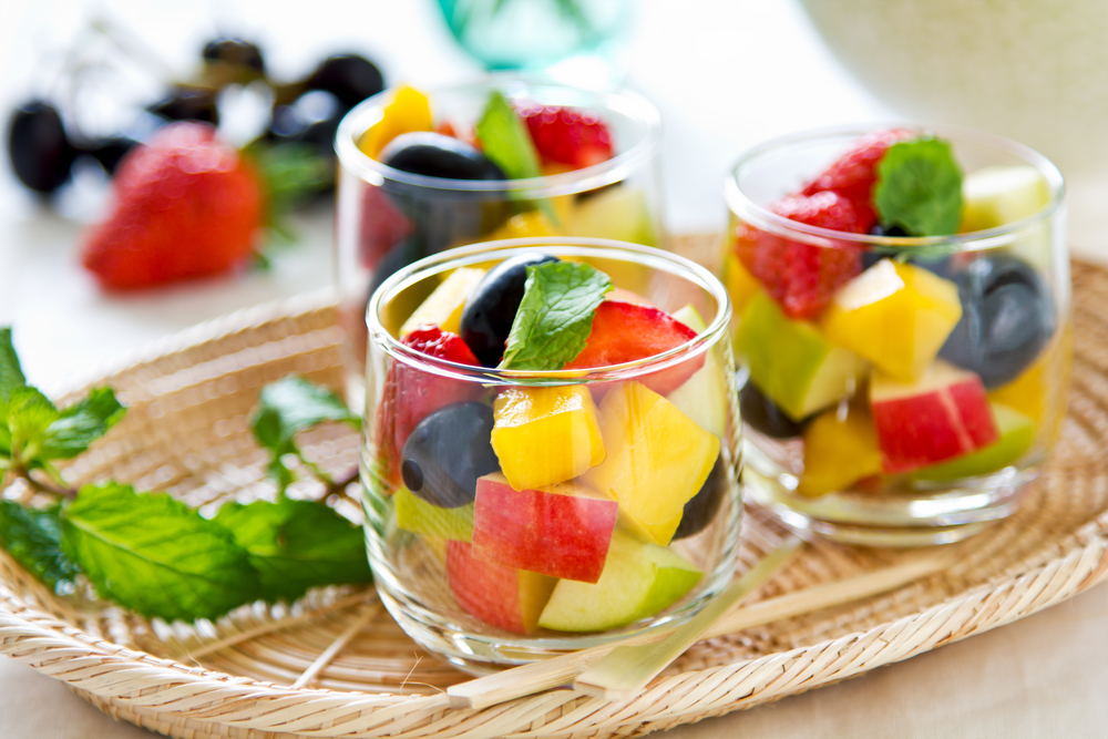 Varieties of fruits as in small glass. Photo: depositphotos.com