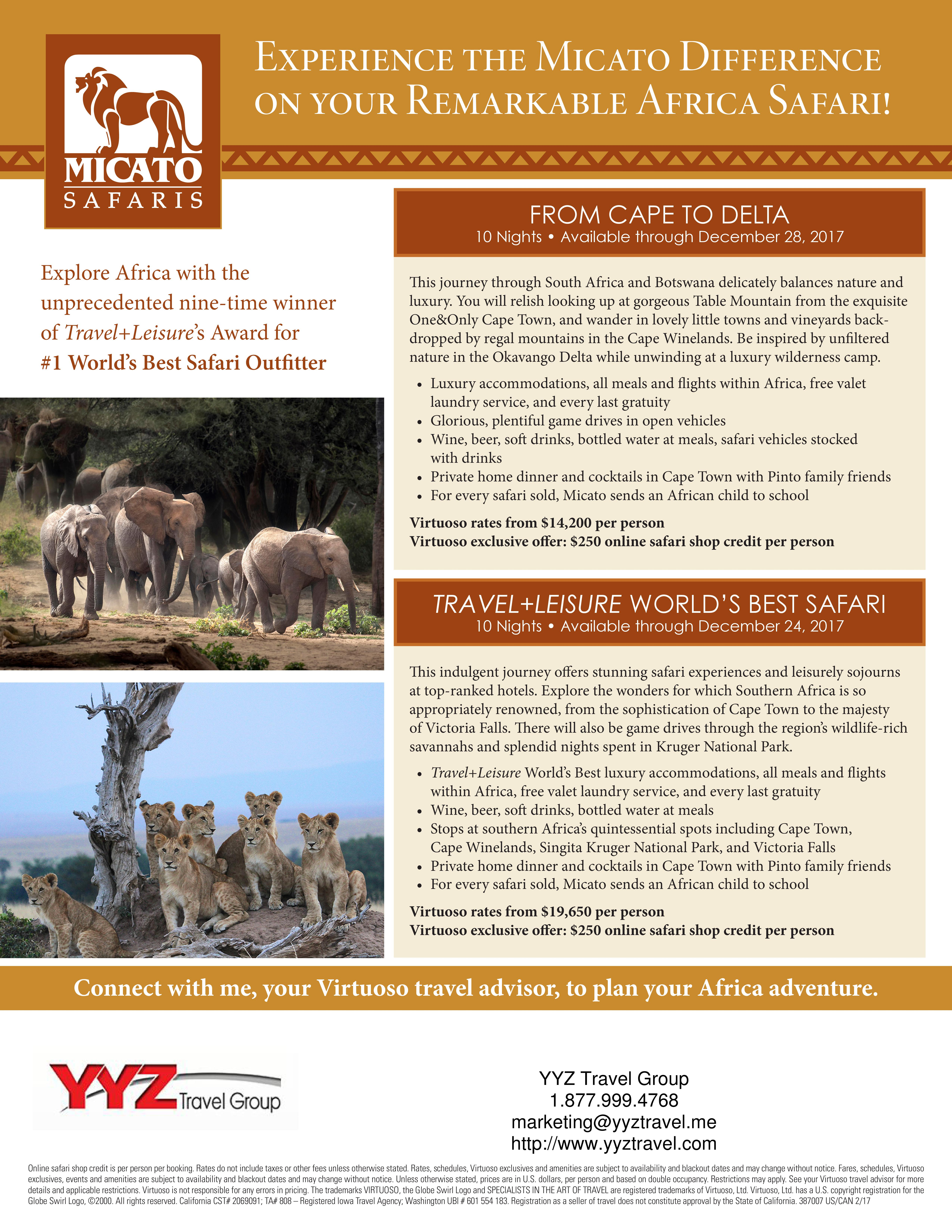 Remarkable African Safari Experience | YYZ Travel Group