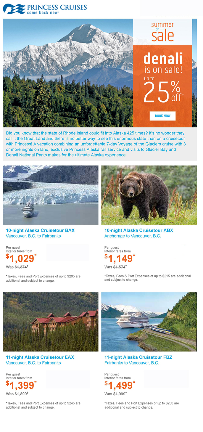 Don't miss Denali this summer - up to 25% off!
