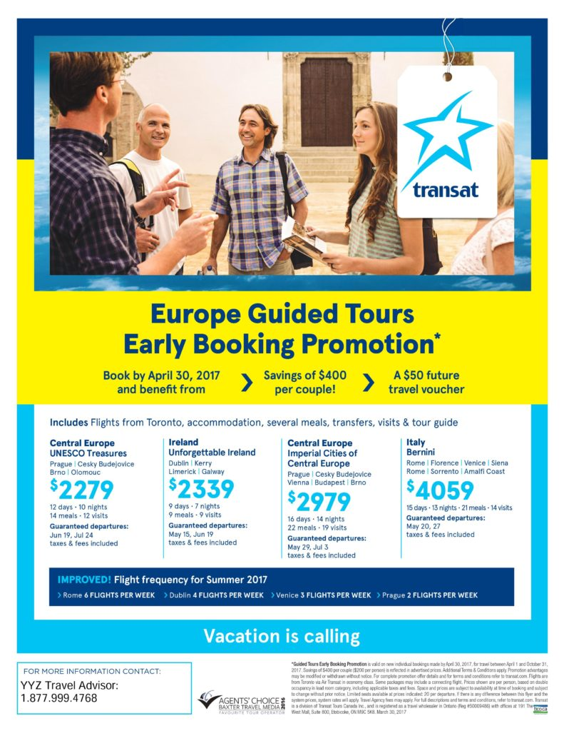 Europe Guided Tour: Early Booking Promotion