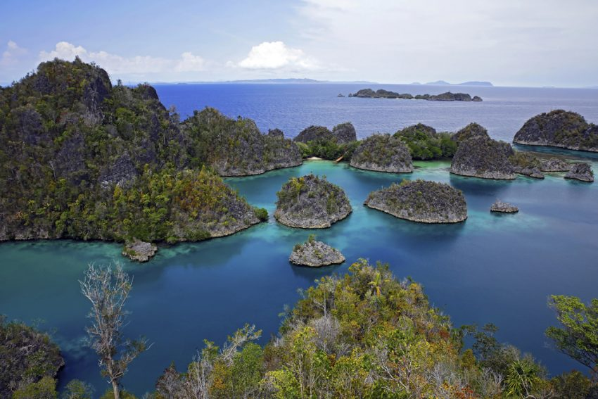 The World's Most Incredible and Surprising Islands: Part 2. View over Pianemo. Fam, Raja Ampat, Indonesia.