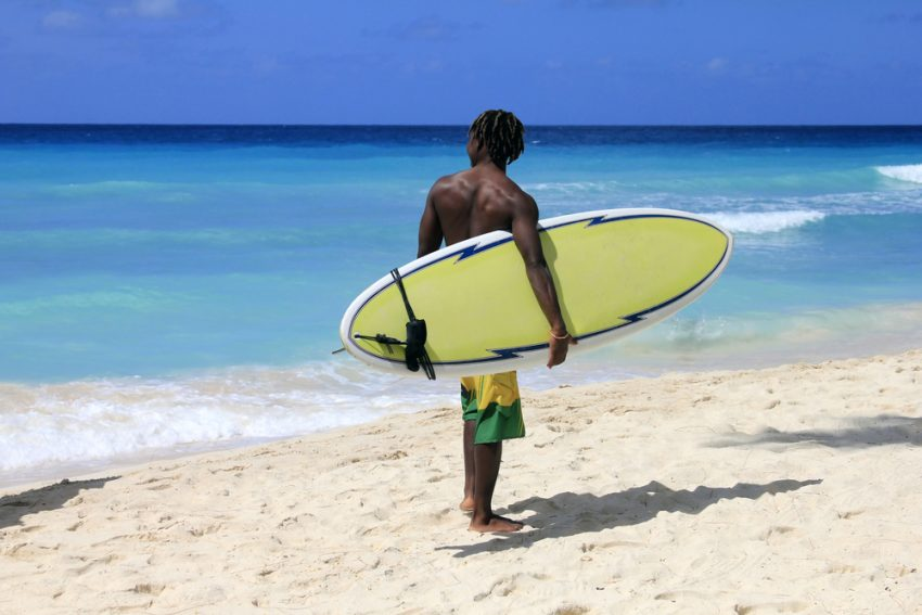 Fun Surfing in Barbados