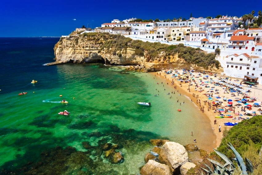 Best Kid-Friendly Beaches. Algarve rock - coast in Portugal.
