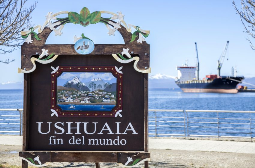 Antarctic Explorations. Ushuaia is the southernmost city in the world. It is located on the shores of the Beagle Channel, at the southern tip of Tierra del Fuego Island, Argentina. Photo: depositphotos.com