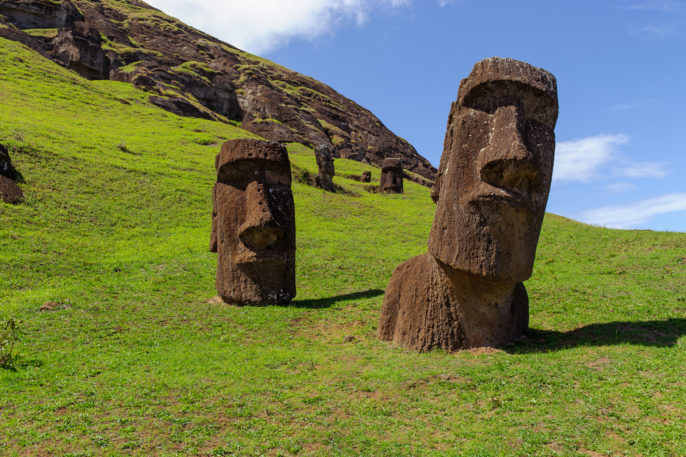 The World's Most Incredible and Surprising Islands: Part 2. South America. Easter Island. Mountains. Statues.