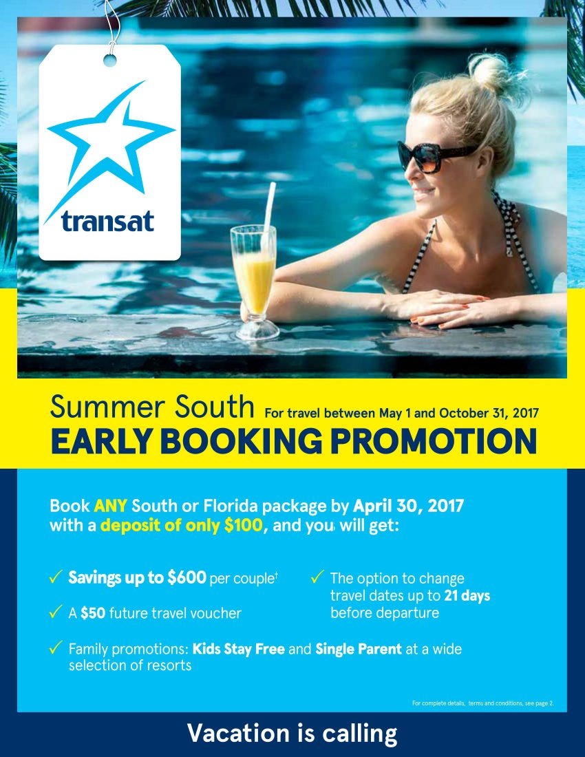 Summer South Early Booking Promotion 2