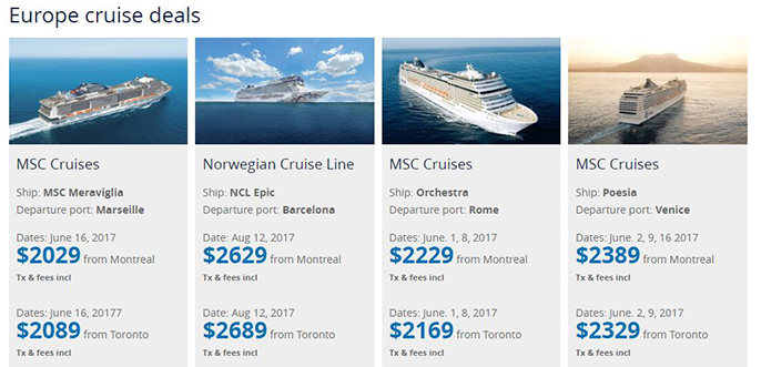 EUROPE SALE! SAVE UP TO $400!
