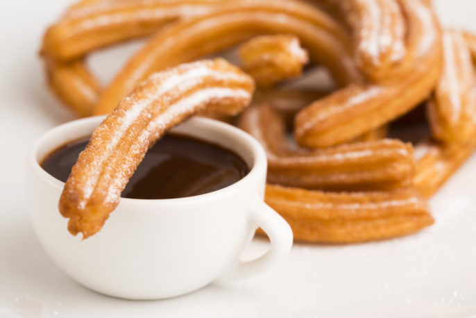 5 Must-Try Spanish Dishes. deliciuos spanish Churros with hot chocolate