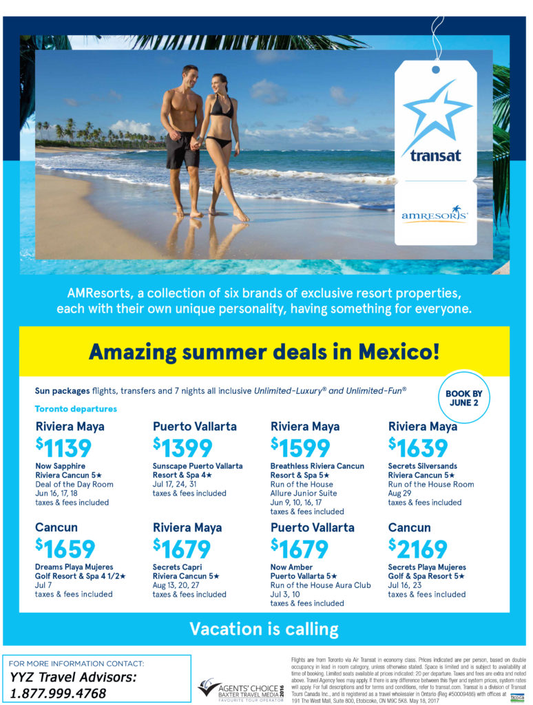 Amazing summer deals in Mexico