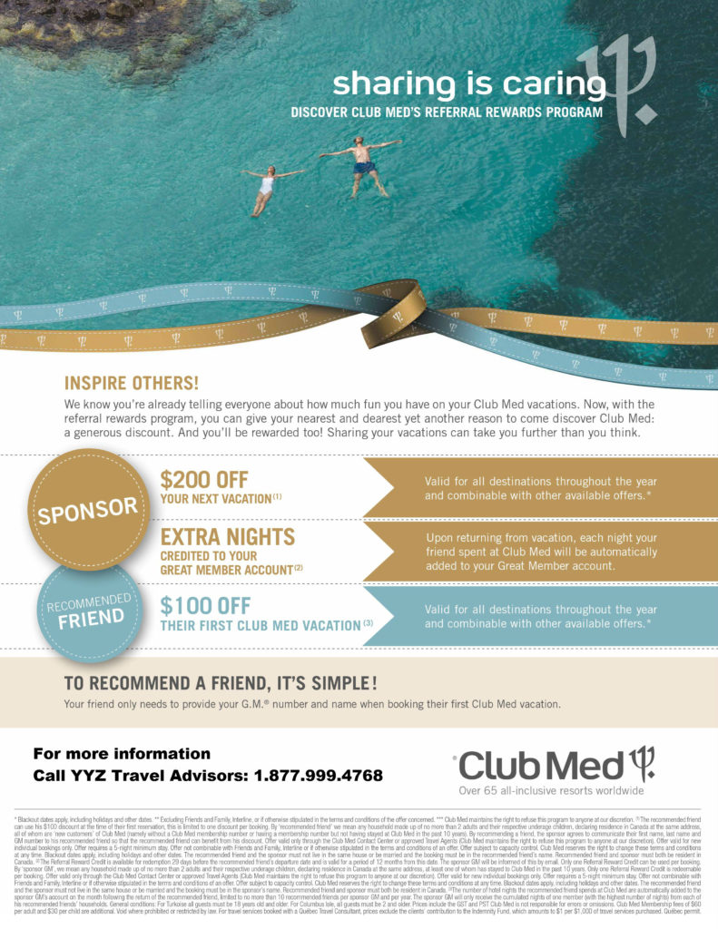 Discover Club Med's Referral Rewards Program
