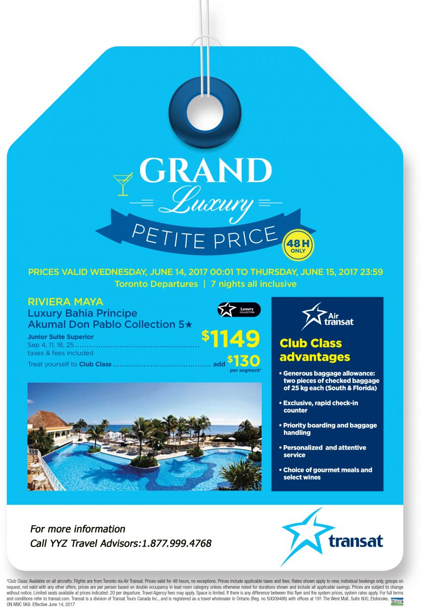 48–Hour Sale! Grand Luxury