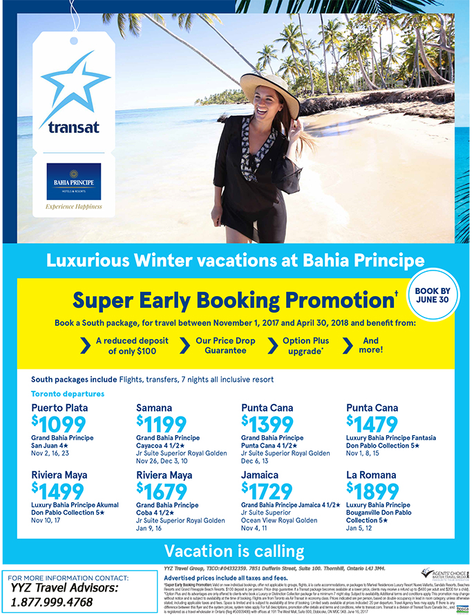 Luxurious Winter vacations at Bahia Principe