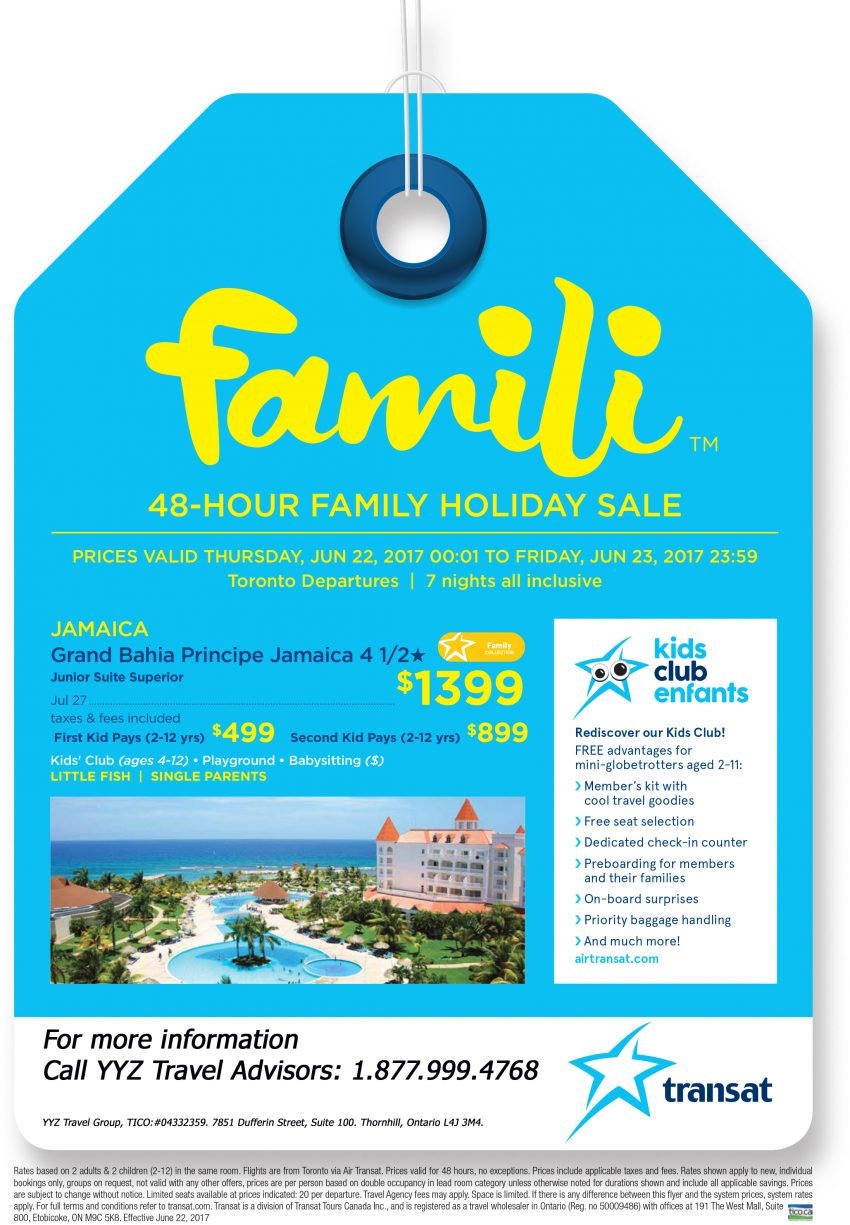 Jamaica 48-Hour Family Holiday Sale