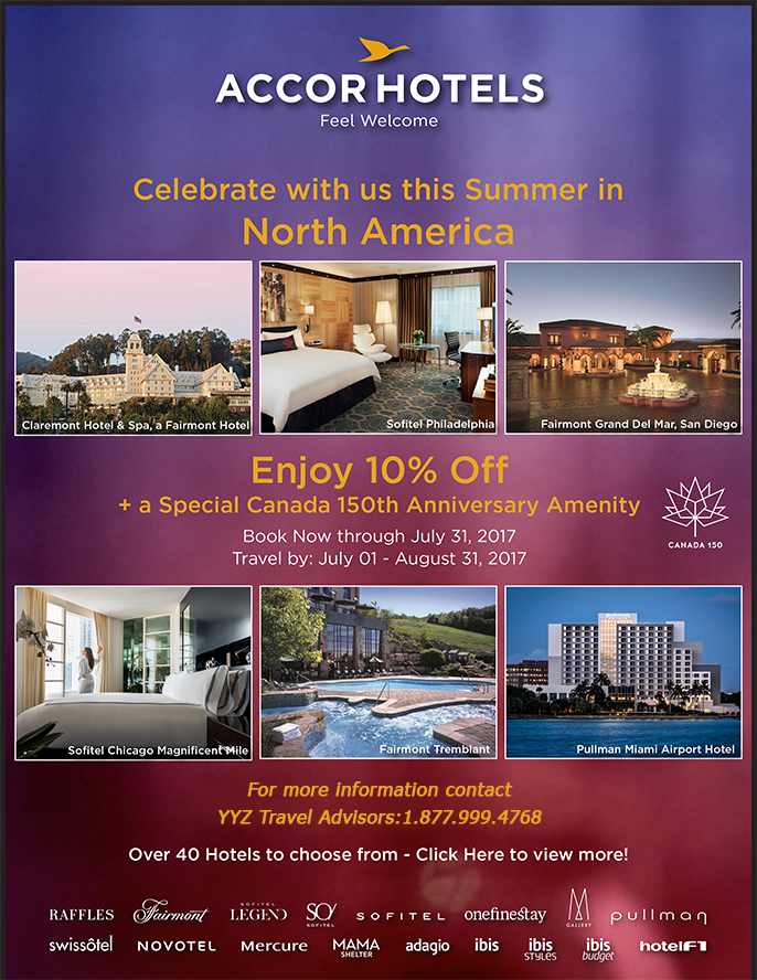 Celebrate Canada's 150th Anniversary with Accor Hotels