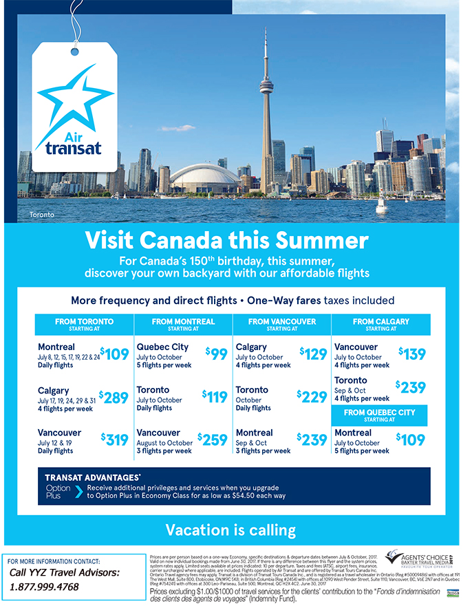 Affordable Flights: Visit Canada this Summer