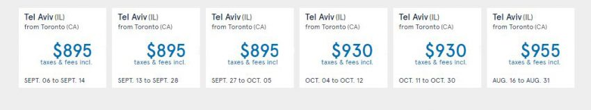 Cheap Flights to Israel: from Toronto to Tel Aviv
