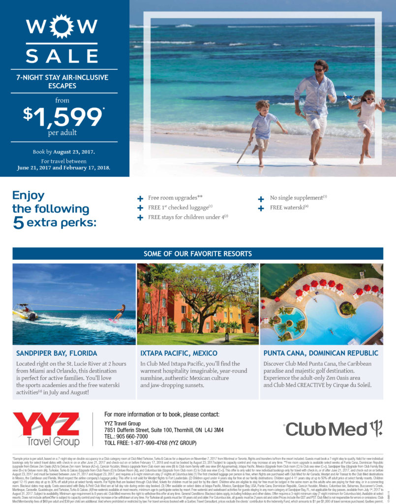 Club Med WOW Sale