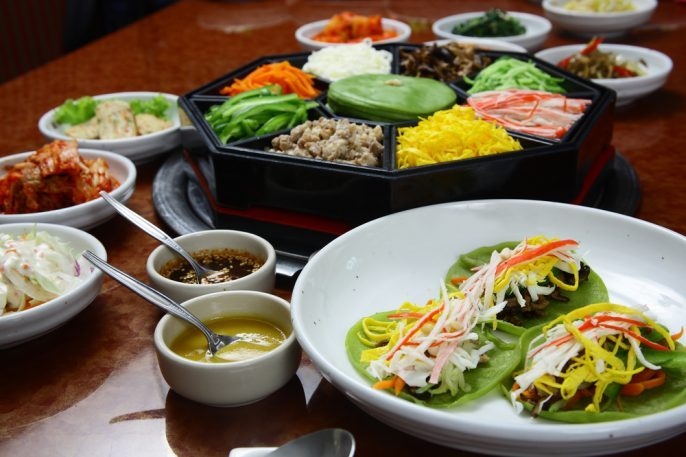 What to Eat in Seoul. Korean cuisine set