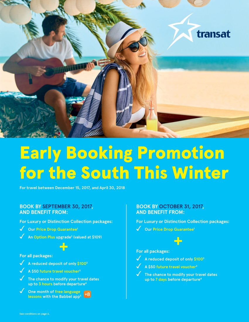 Early Booking Promotion for the South This Winter