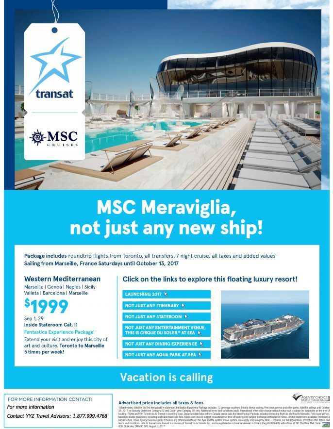 Vacation Is Calling! MSC Meraviglia