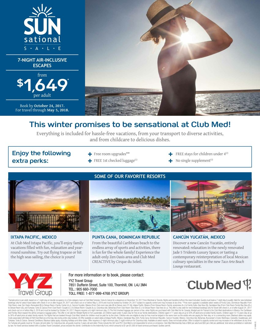 Club Med's SUNsational Sale