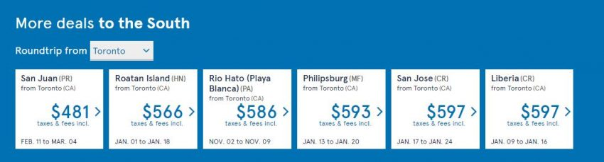 Air Transat Seat Sale