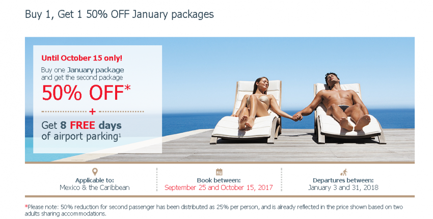 Buy 1, Get 1 50% OFF January packages