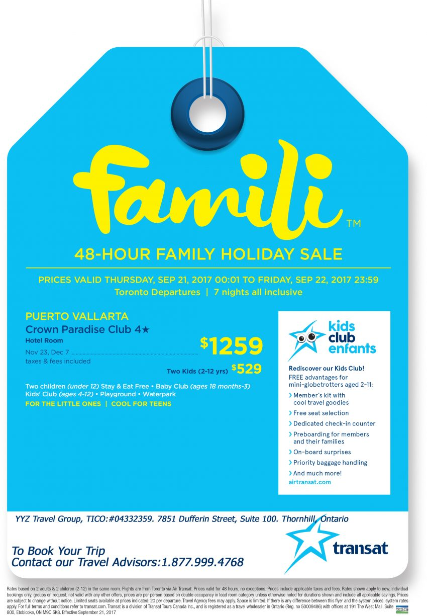 Family Holiday Sale: Puerto Vallarta