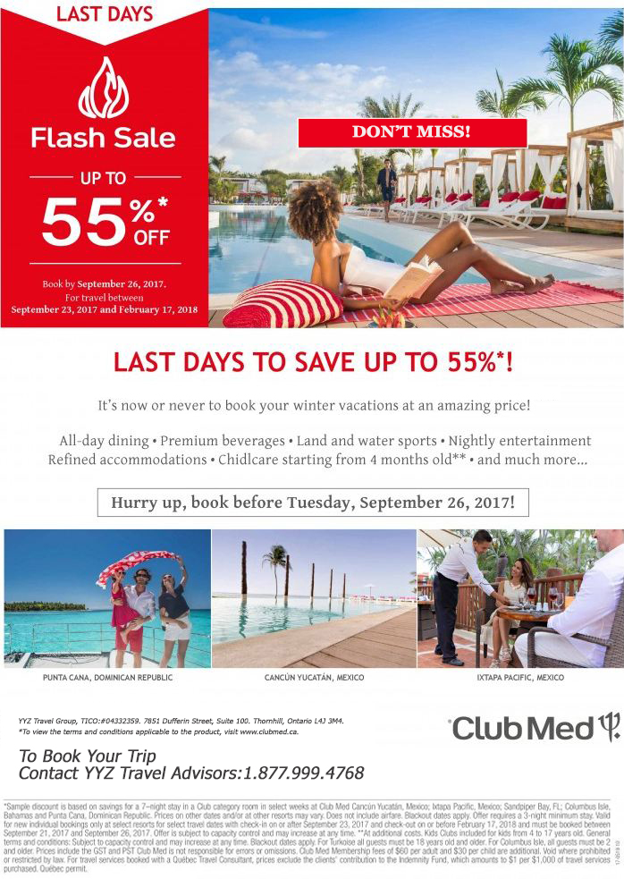 Club Med Flash Sale
