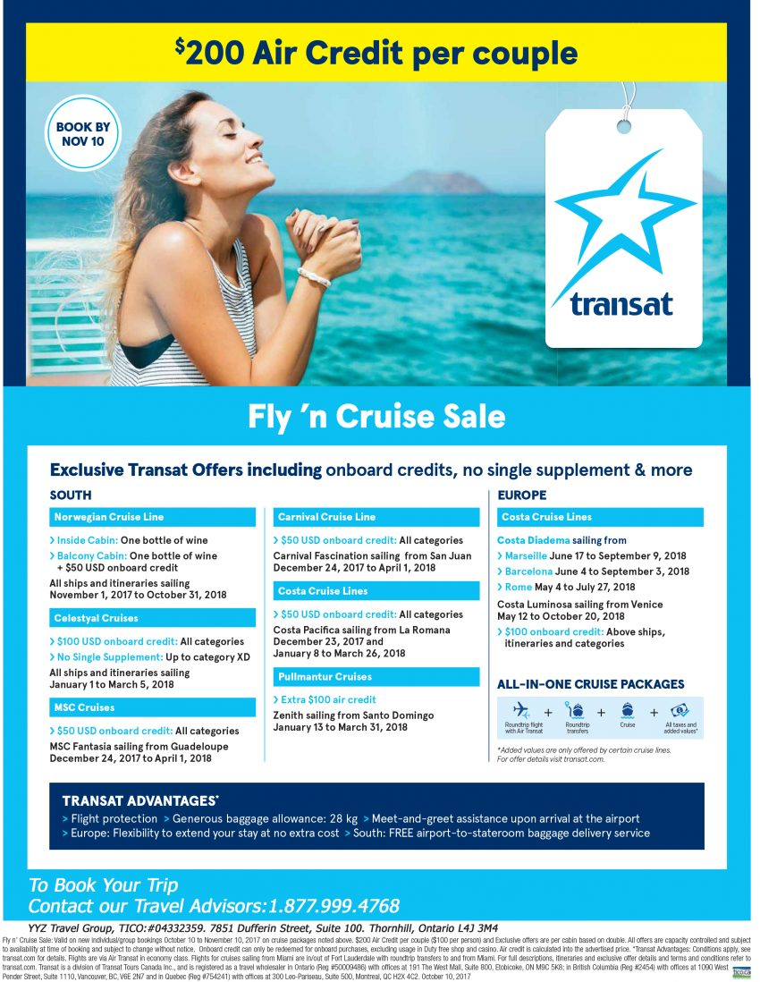 Fly'n Cruise Sale
