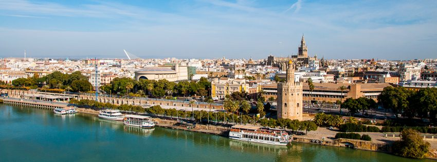 Top Vacation Destinations in Spain. Panorámica de Sevilla