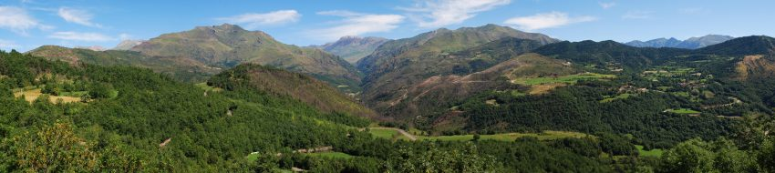 Top Vacation Destinations in Spain. Panorama of the Aragonese Pyrenees.