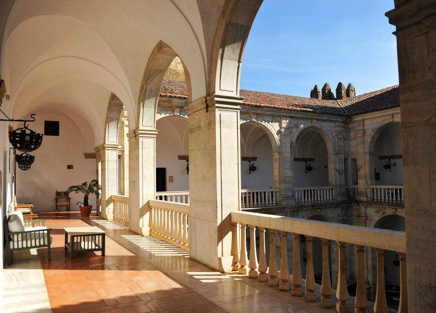 Top Vacation Destinations in Spain. Zafra, patio del Castillo