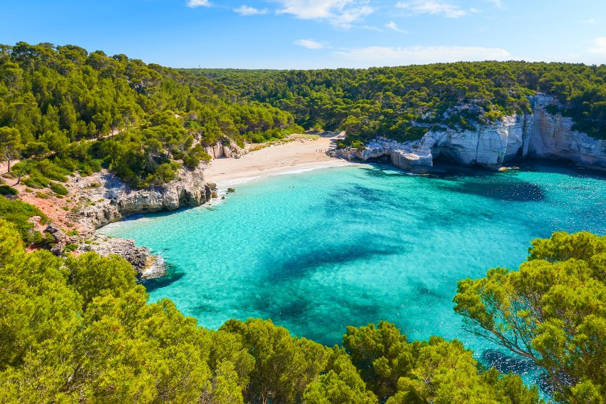 Top Vacation Destinations in Spain. Mitjaneta beach