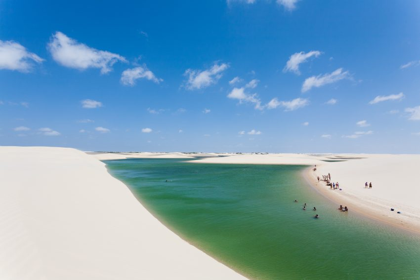 Top Places to Visit in Brazil. Lencois Maranhenses National Park, Brazil.