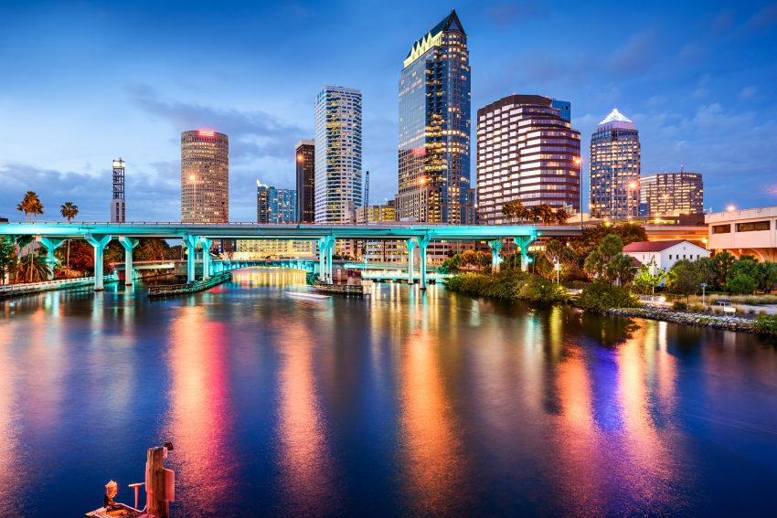 Tips for Visiting Amazing Tampa. Tampa, Florida, USA downtown city skyline over the Hillsborough Riv