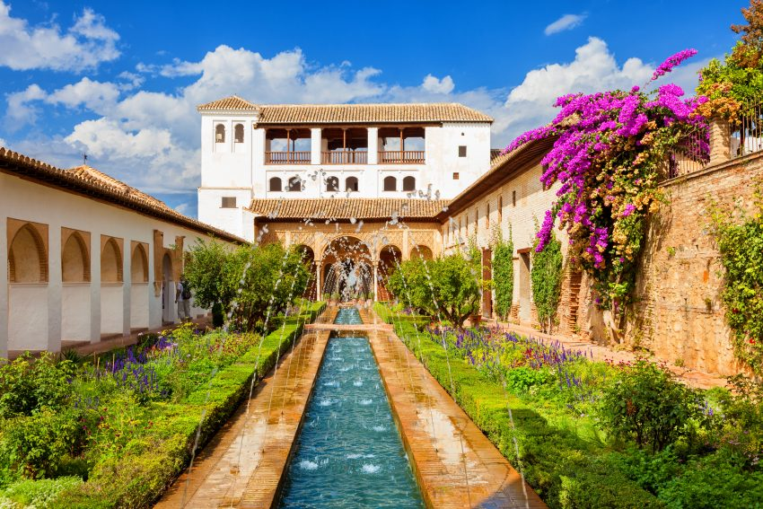 Top Vacation Destinations in Spain. Alhambra de Granada.