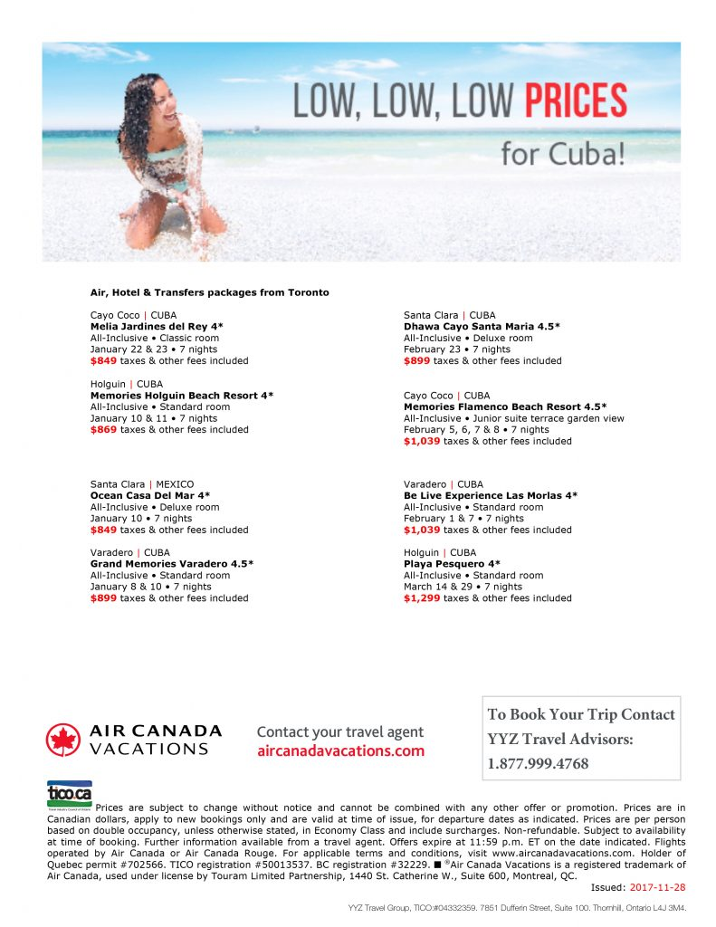 LOW PRICES FOR CUBA