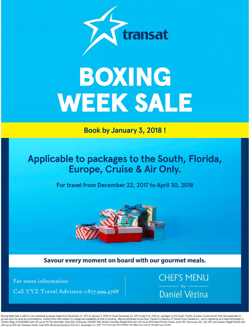 Boxing Week Sale: Book by January, 3